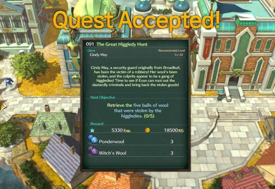 Ni no Kuni 2: Revenant Kingdom - Side Quest 091: The Great Higgledy Hunt
