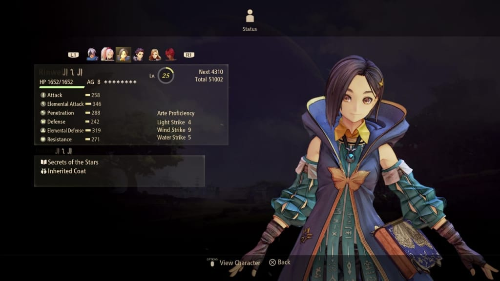 Tales of Arise - Status and Parameters Guide