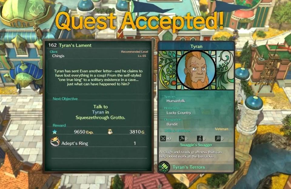 Ni no Kuni 2: Revenant Kingdom - Side Quest 162: Tyran's Lament
