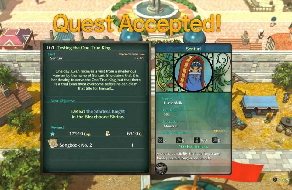 Ni no Kuni 2: Revenant Kingdom - Side Quest 161: Testing the One True King
