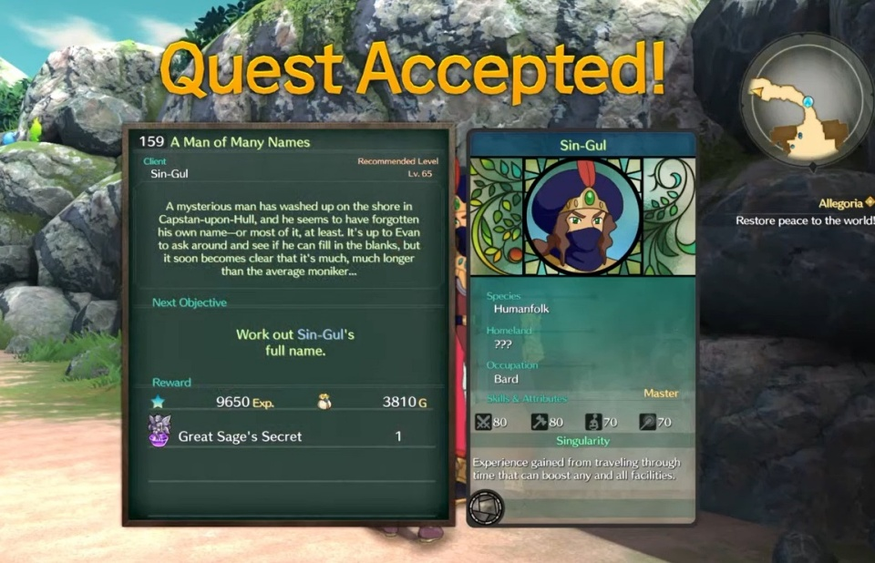 Ni no Kuni 2: Revenant Kingdom - Side Quest 159: A Man of Many Names