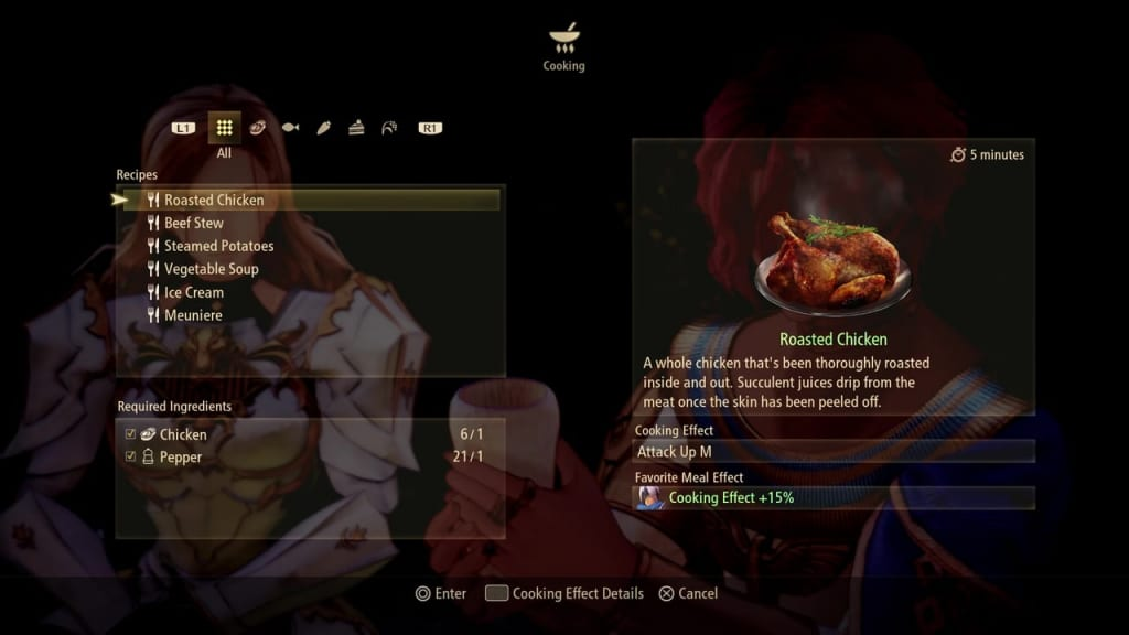 Tales of Arise - Choose a Cooking Recipe