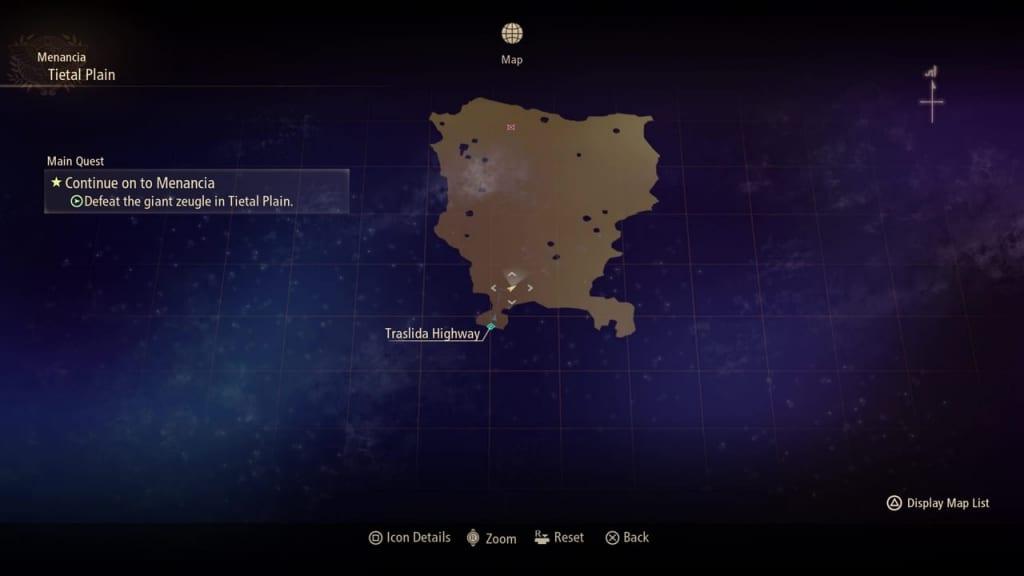 Tales of Arise - Tietal Plain Map