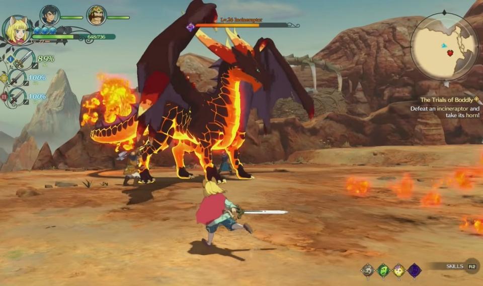 Ni no Kuni 2: Revenant Kingdom - Incineraptor Boss Guide
