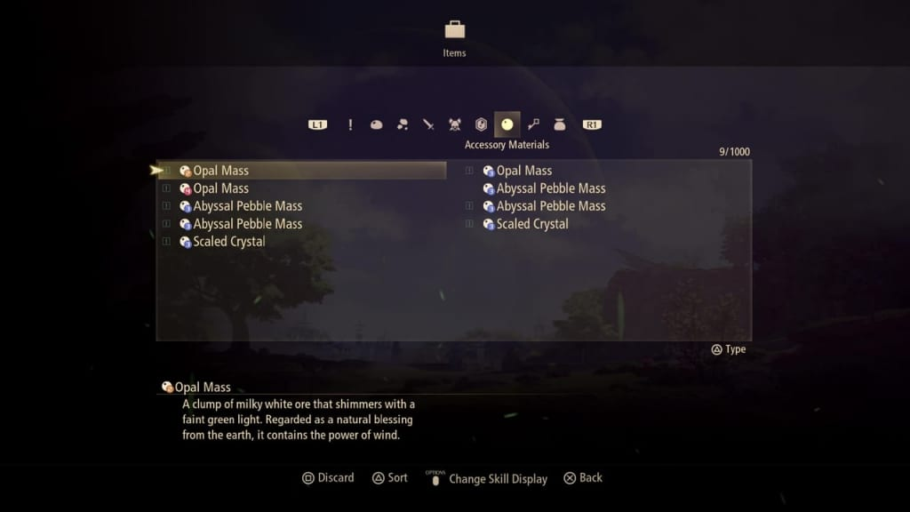 Tales of Arise - Accessory Crafting Material List