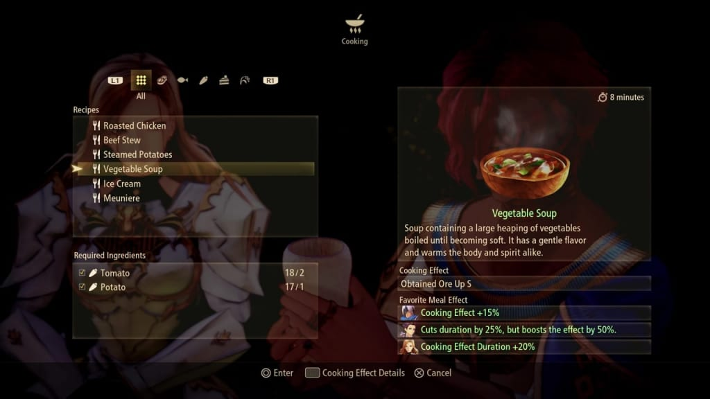 Tales of Arise - Cooking Favorite Meal