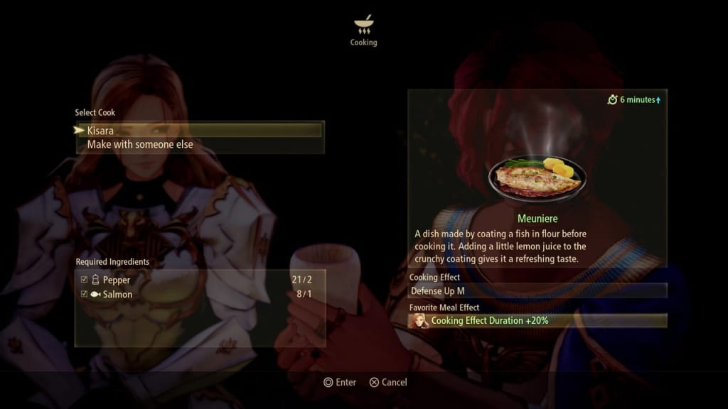 Tales of Arise - Cooking Meal Information