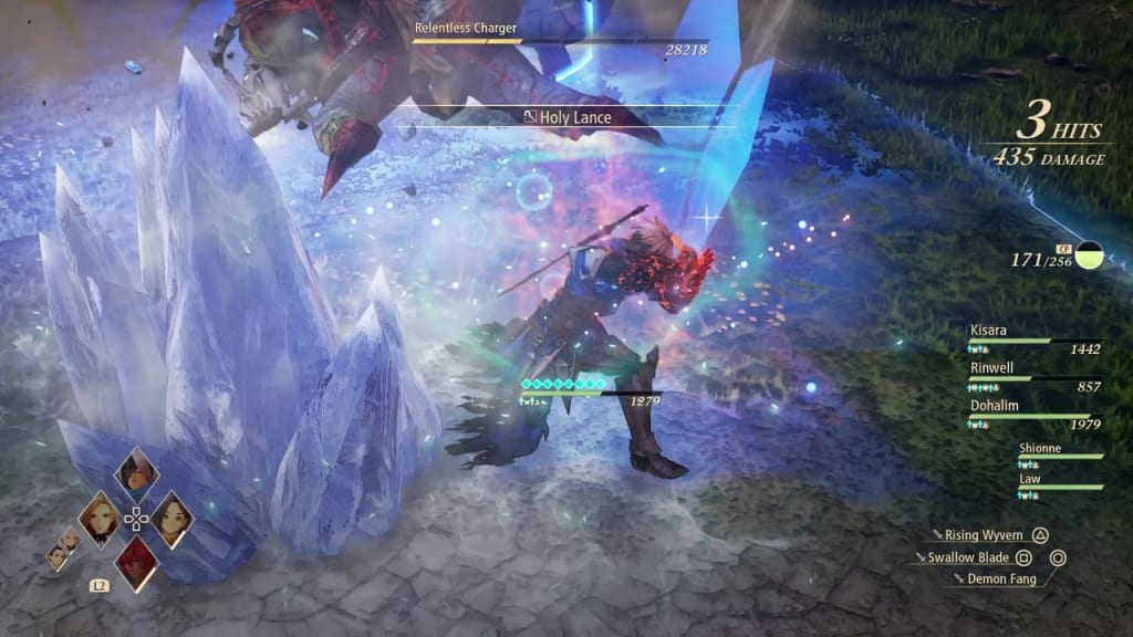 Tales of Arise - Relentless Charger Blazing Sword: Burning Wave Alphen Boost Attack