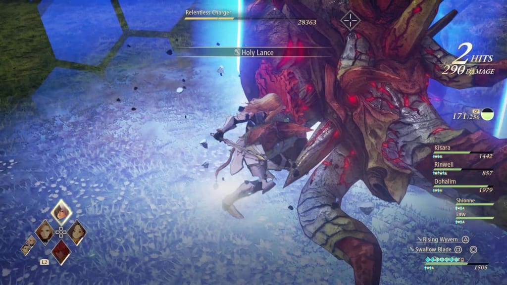 Tales of Arise - Relentless Charger Fierce Guardian Kisara Boost Attack