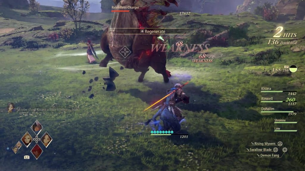Tales of Arise - Relentless Charger Headbutt Attack