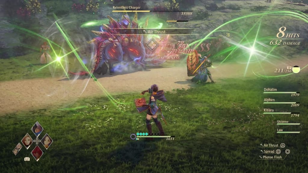 Tales of Arise - Relentless Charger Use Wind Artes