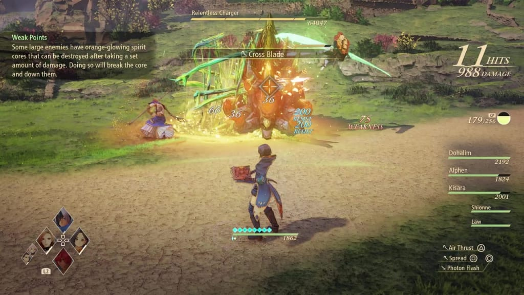 Tales of Arise - Relentless Charger Dohalim Prehendere Boost Attack