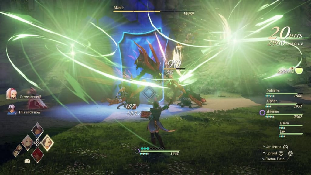 Tales of Arise - How to Defeat Mantis Gigant Zeugle Fierce Guardian Kisara Boost Attack