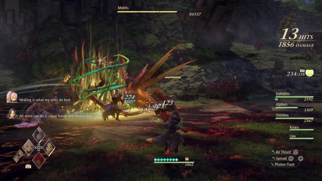 Tales of Arise - Boost Attack List