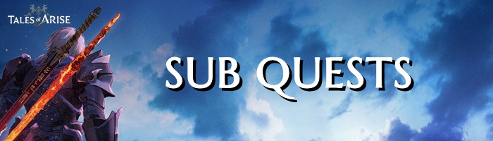 Tales of Arise - Sub Quests