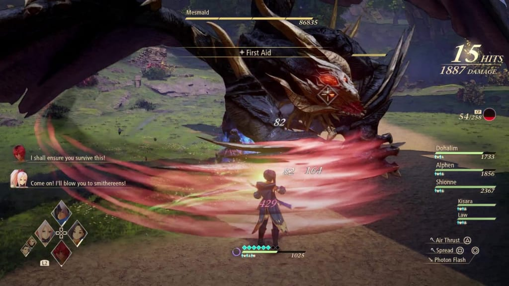 Tales of Arise - Mesmald Claw Attack