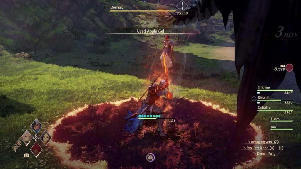 Tales of Arise - Mesmald Blazing Sword: Burning Wave Alphen Boost Attack
