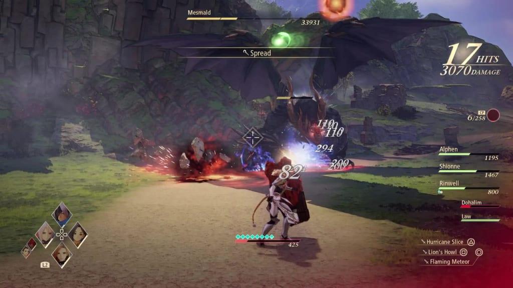 Tales of Arise - Mesmald Burning Strike