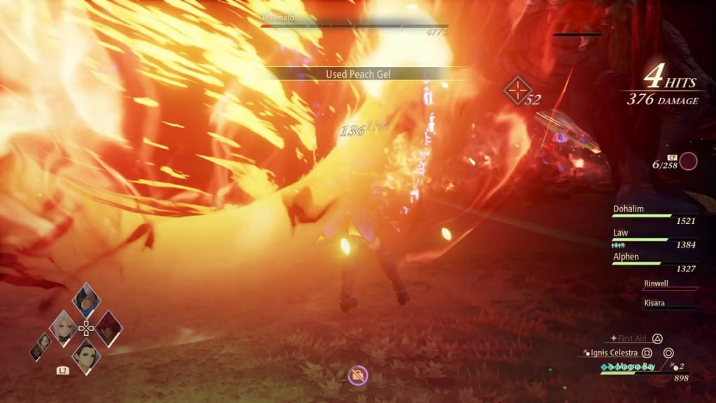 Tales of Arise - Mesmald Fireball Explosion