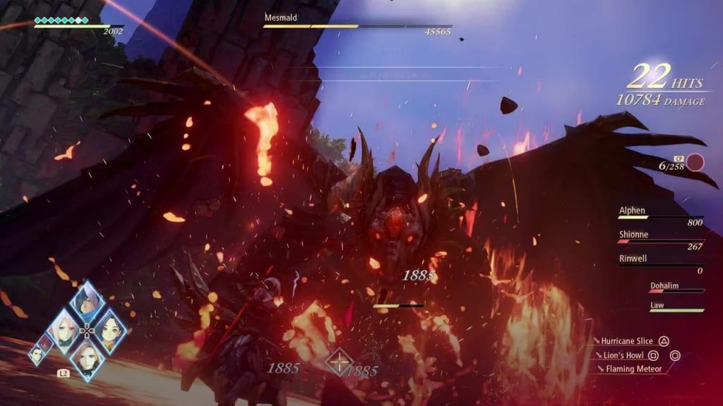 Tales of Arise - Mesmald Unleash Boost Strikes