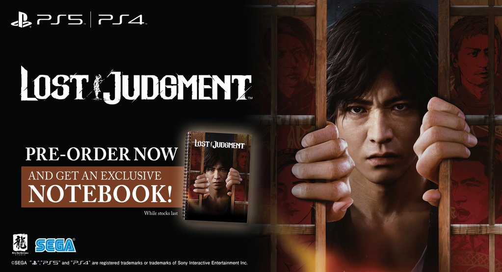 Lost Judgment - Pre-Order Exclusive Notebook