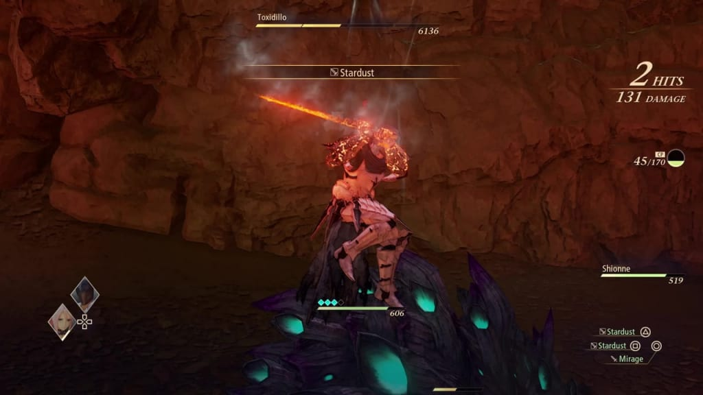 Tales of Arise - How to Defeat Toxidillo Gigant Zeugle Blazing Sword: Burning Wave Alphen Boost Attack