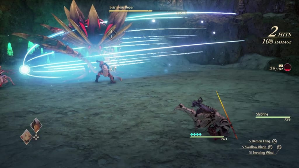 Tales of Arise - How to Defeat Boisterous Roper Gigant Zeugle Wing Clip Shionne Boost Attack
