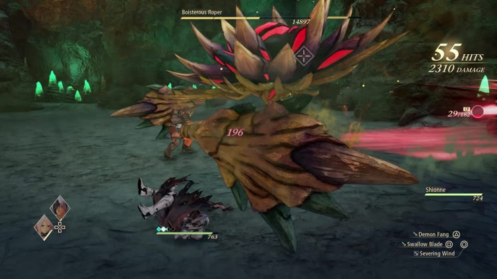 Tales of Arise - How to Defeat Boisterous Roper Gigant Zeugle Tentacle Whip