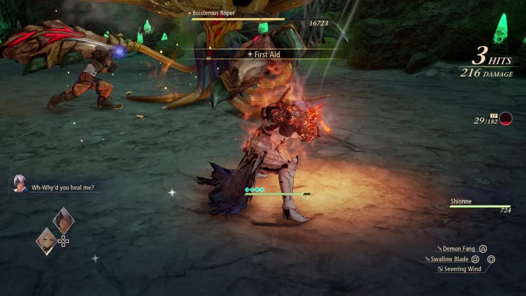 Tales of Arise - How to Defeat Boisterous Roper Gigant Zeugle Blazing Sword: Burning Wave Alphen Boost Attack