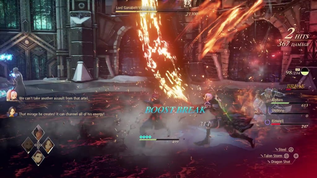 Tales of Arise - How to Defeat Lord Ganabelt Valkyris Blazing Sword: Burning Wave Alphen Boost Attack