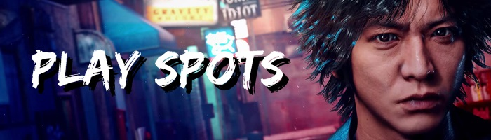 Lost Judgment - Play Spots Banner