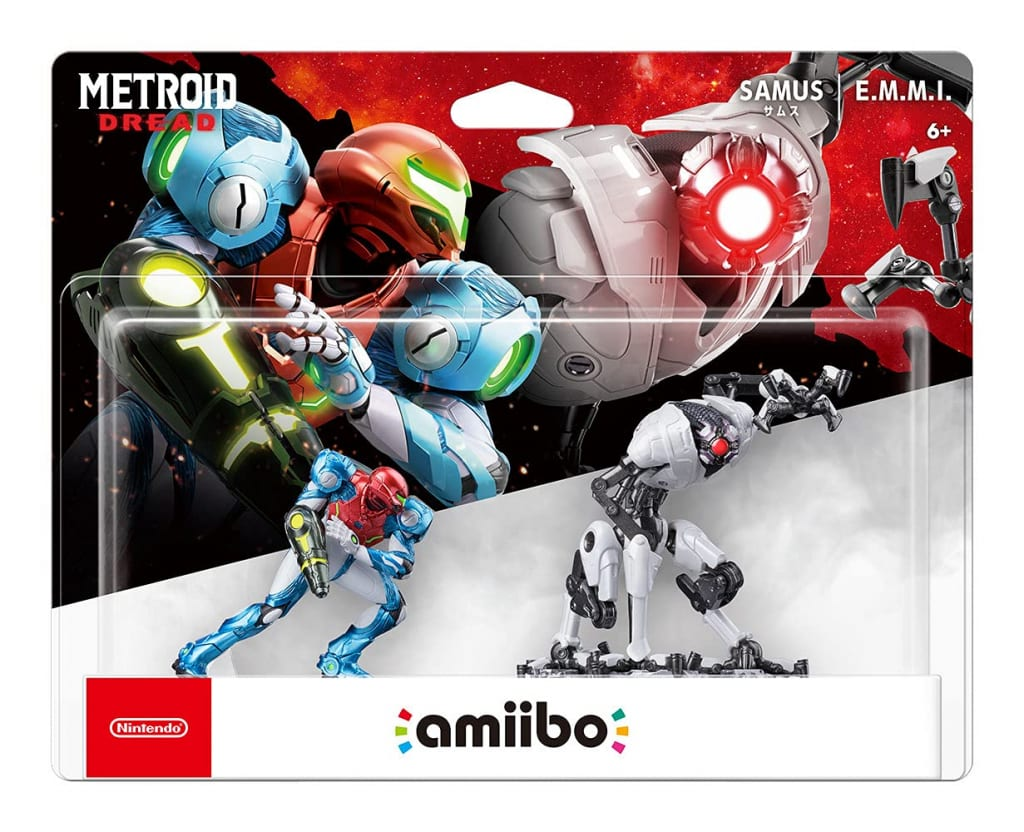 Metroid Dread - Amiibo Samus Aran and E.M.M.I