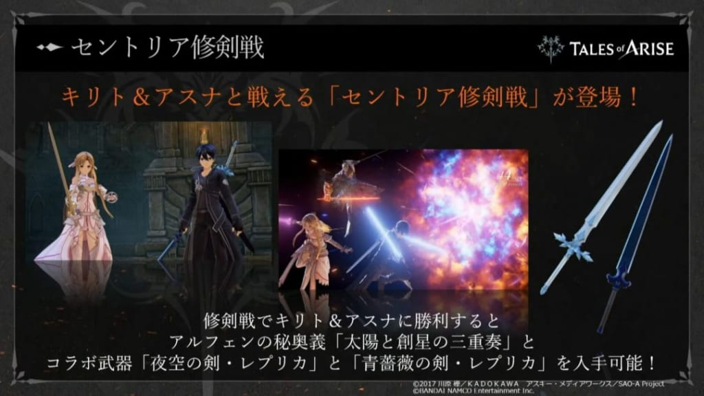 Tales of Arise - Sword Art Online Collaboration Pack New Weapons